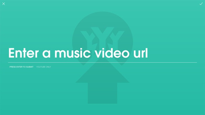 Submitting a video starts with pasting a YouTube URL
