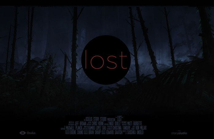 A poster for Oculus Story Studios first short, Lost, which premiered at the 2015 Sundance Film Festival
