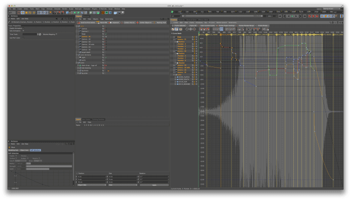 """""""We used Cinema 4D primarily to set up the environment and do all of the camera moves in 3D. """""""