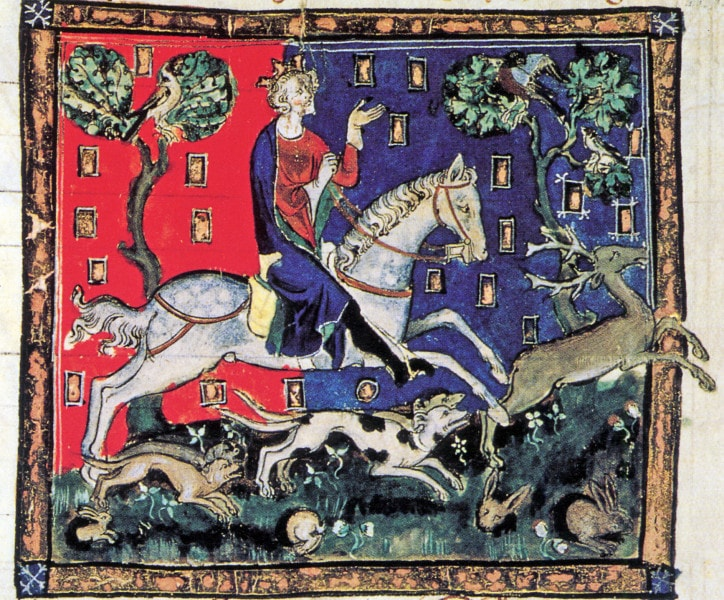 King John on a stag hunt. Source: Wikimedia Commons