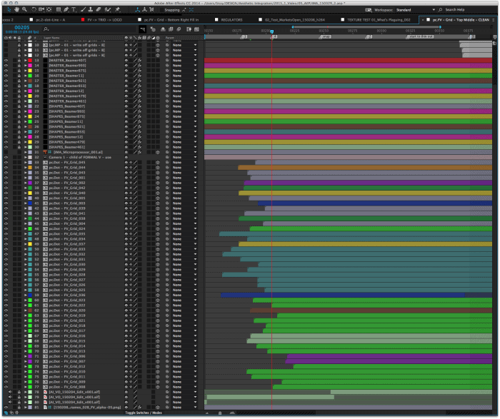 No fancy scripting here, just a lot of brute force keyframing.