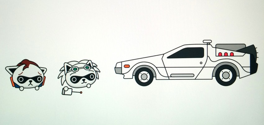 """""""The first scene I designed was a take on the movie, Back to the Future."""""""
