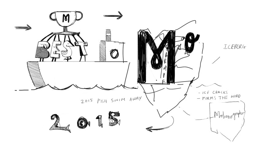 The original concept for the opening of the package was centered around a journey.