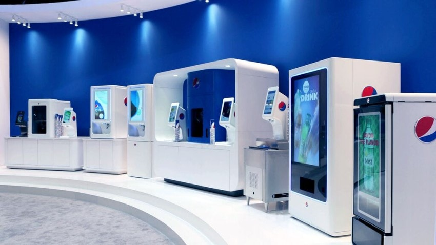 A showroom including some of the prototypes Firstborn has worked on for Pepsi
