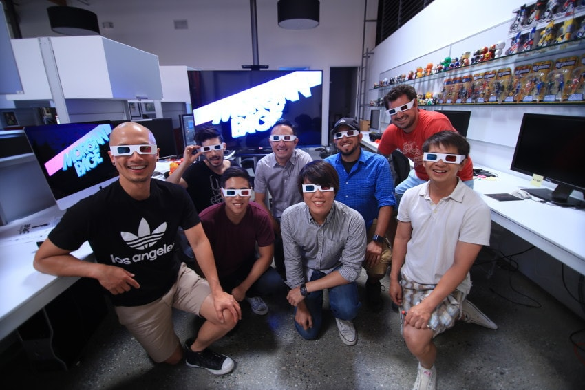 """Group shot behind the scenes for """"Morgan Page Presents: MPP3d Concert Experience"""""""