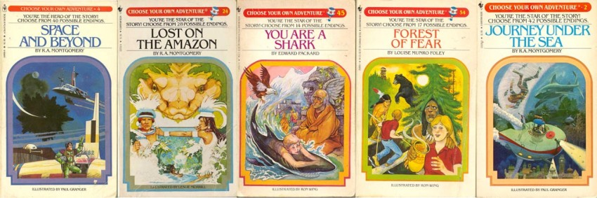 Choose your own adventure stories were some of the most popular children's books during the 80s and 90s, selling more than 250 million copies. You are a shark was a personal favorite.