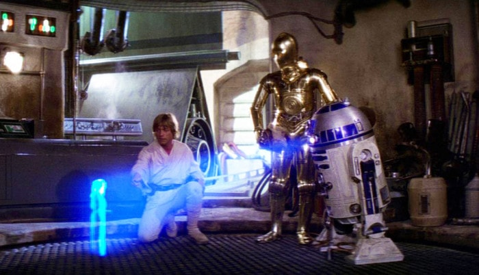 """Help me, Obi-Wan Kenobi. You're my only hope"""