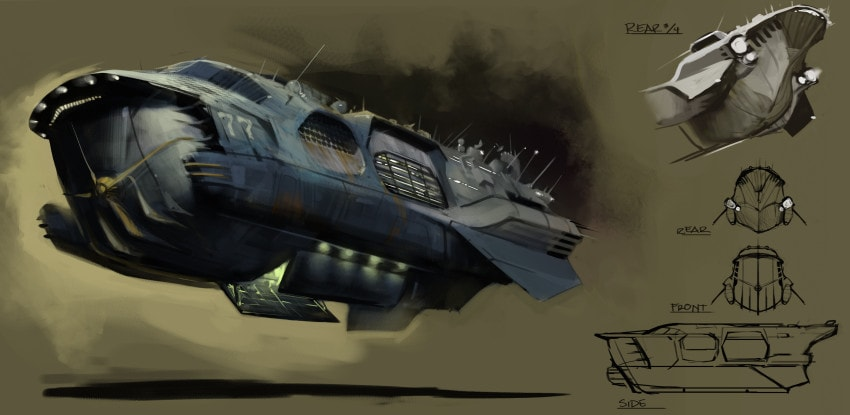 Barge concept art