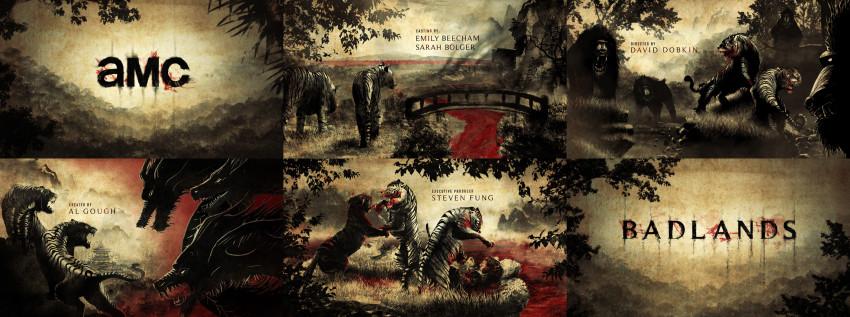Design for Badlands title sequence by Jacob Ferguson