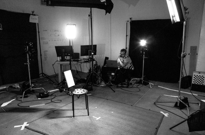Alexander on set