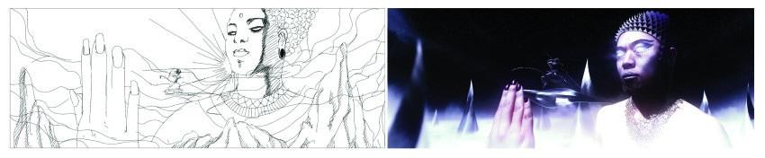 Thumbnail sketch & style frame by Daniel Chang