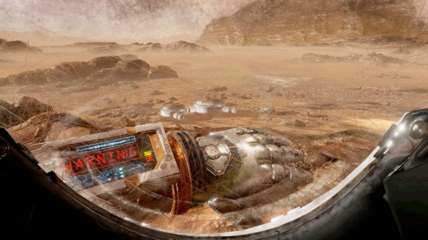 Still from The Martian VR Experience
