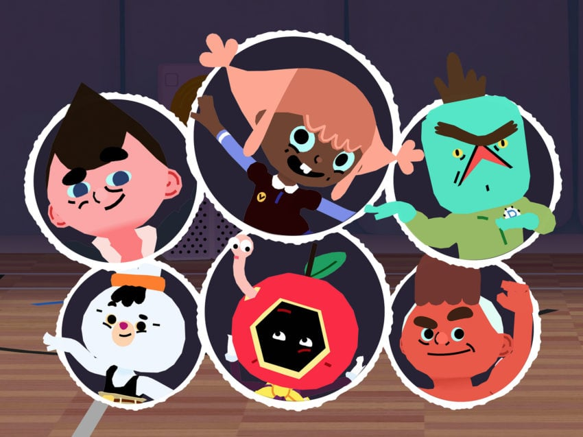 Some of the characters from Toca Dance