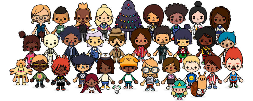 Characters from Toca Life: School