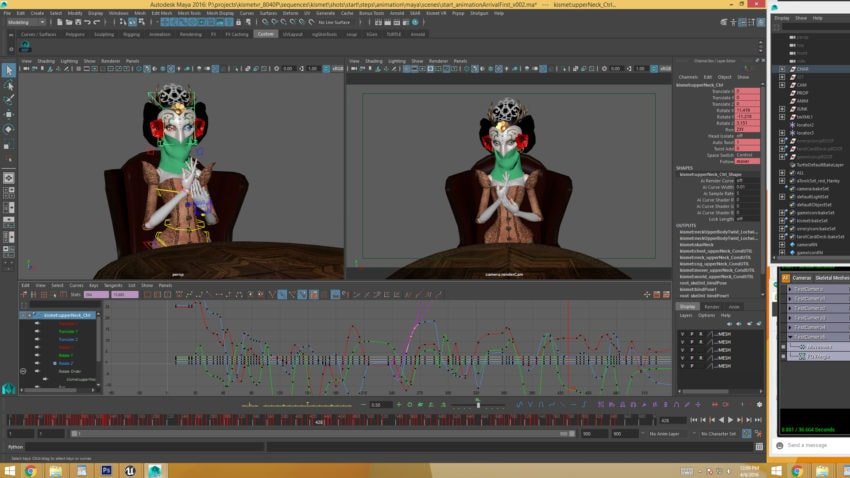 Animating in Maya