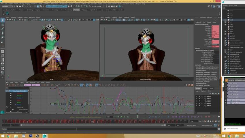 Animating in Maya