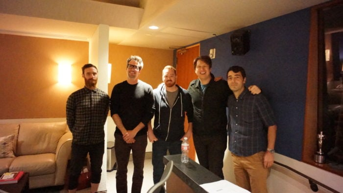 Steve Day (Buck, ACD); Ryan Honey (Buck, ECD/Principal); Jeremy Spencer (Copywriter, The Butler Bros.); Pete Holmes; and Alessandro Ceglia (Buck, Animation Director)