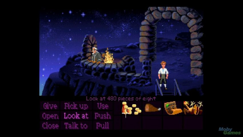 "A scene from ""The Secret of Monkey Island"" (1990)"