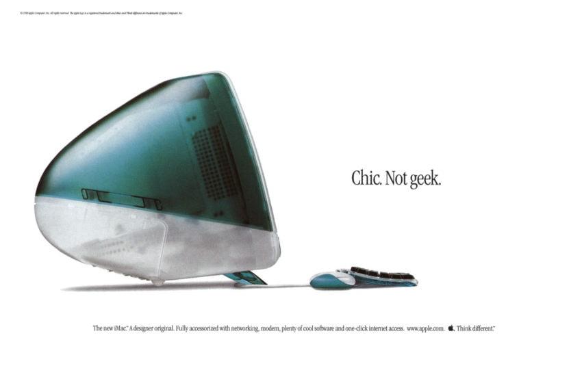 Vintage iMac ad (circa 1999)