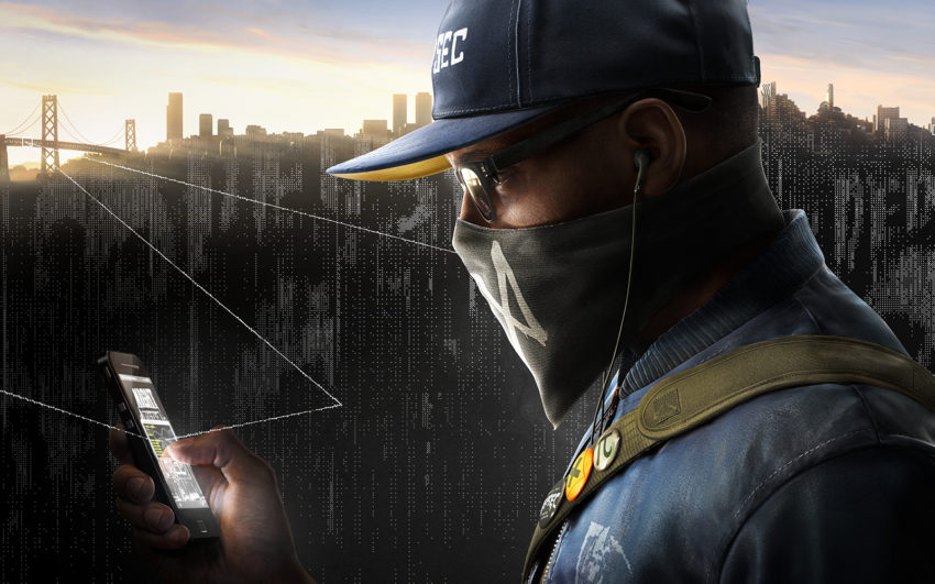 """Watch Dogs 2.0"" promotional image featuring the new protagonist, Marcus Holloway"